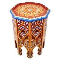 Orientalischer Tisch Amira Rot Handbemalt H 50 cm