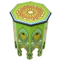 Marokkanischer Tisch Anisa Grün Handbemalt H 50 cm