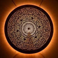 Orientalische Wandlampe Home Medium aus Messing D 60 cm