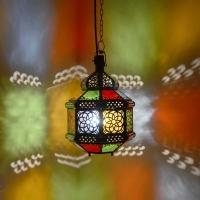 Orientalische Deckenlampe Dad Multi H 35 cm