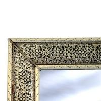 Arabischer Spiegel Pisa – Silber H 80 cm