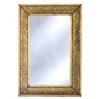 Orientalischer Spiegel S02 aus Messing H80 cm
